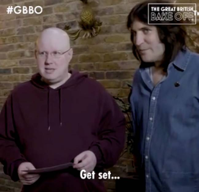The pair were seen rehearsing a bake countdown (Credit: Channel 4)