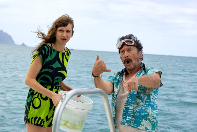 Lauren Lapkus and David Spade in 'The Wrong Missy' (Credit: Netflix/ Happy Madison)