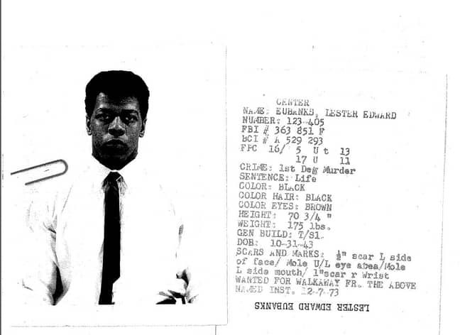 Lester Eubanks' death row ID (Credit: Netflix)