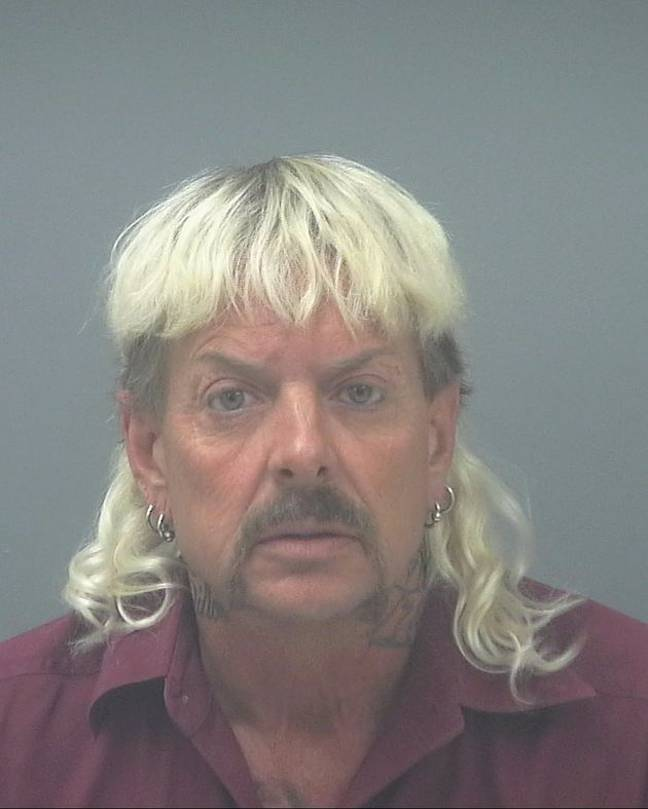 Joe Exotic is serving 22 years in prison for his crimes (Credit: Santa Rosa County Jail)