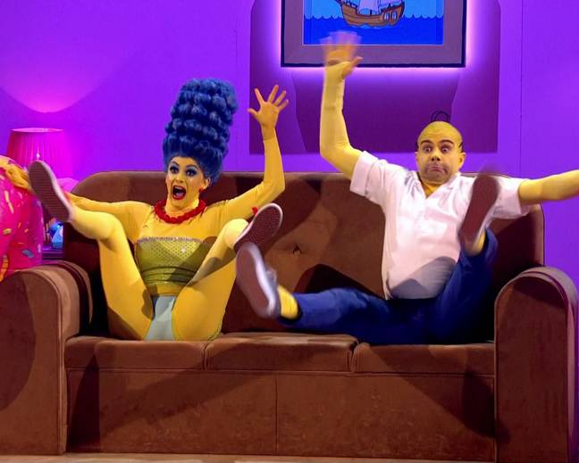 Fans called the Simpsons-inspired routine 'disturbing' and 'surreal' (Credit: BBC)