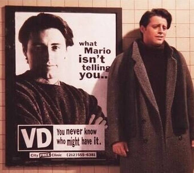 Joey was less happy to see his face as part of the venereal disease campaign (Credit: Kennedy/Warner Bros.)