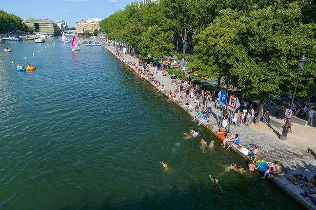 Each year Paris's banks are turned into beaches (Credit: PA)