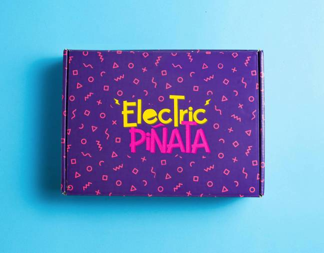 You'll be sent one box per month for a year. Nice! (Credit: Electric Piñata)