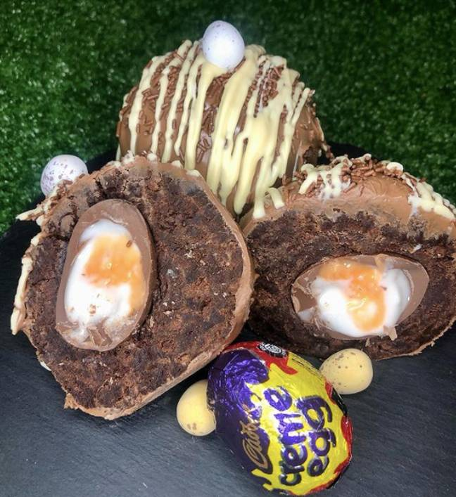 Megan added a Mini Egg on top for an extra chocolatey fix (Credit: Instagram/@Makes_by_megs)