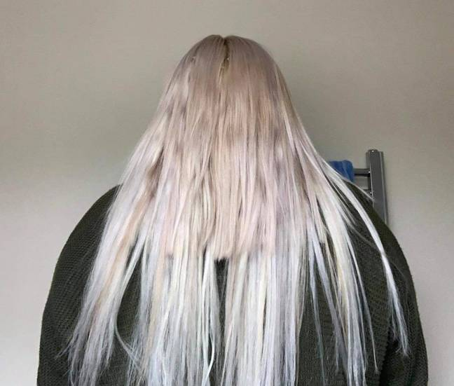 The long, stringy hair was not what she asked for (Credit: Caters)