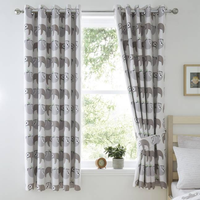 Sloth curtains complete the theme Credit: Dunelm