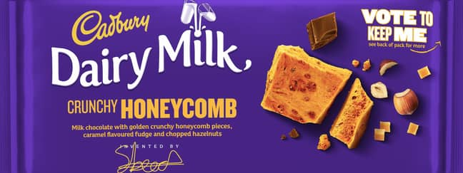 Honeycomb flavour is for those with an extra sweet tooth (Credit: Cadbury)