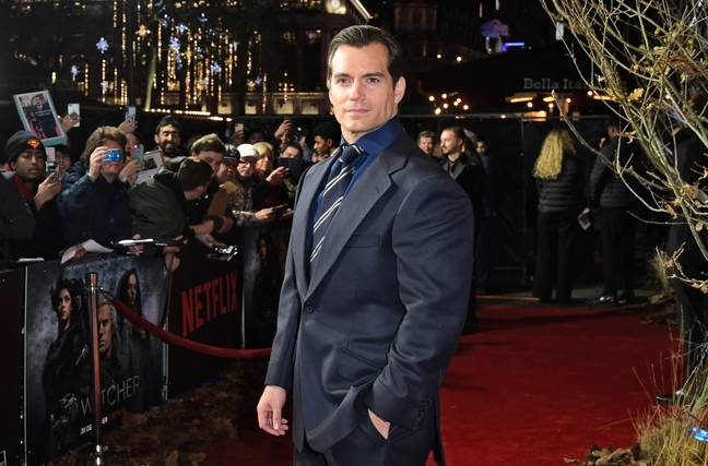 Henry Cavill at the premiere of The Witcher in London last year (Credit: PA)