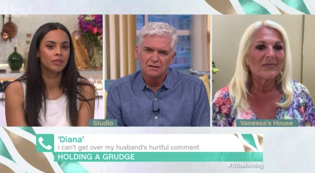 Diana rang in to ask for some advice about her husband's comments (Credit: ITV)