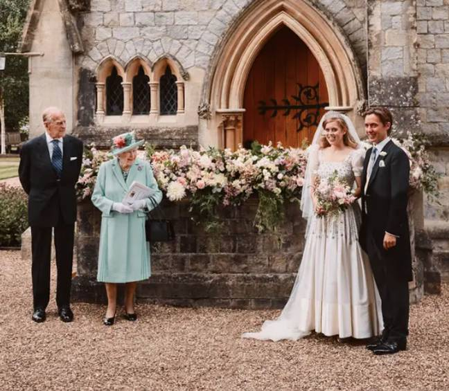 The couple had a small, Covid secure ceremony (Credit: PA)