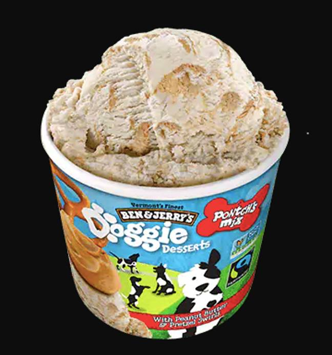 There are two flavours to choose from, filled with your pup's fave treats (Credit: Ben & Jerry's)