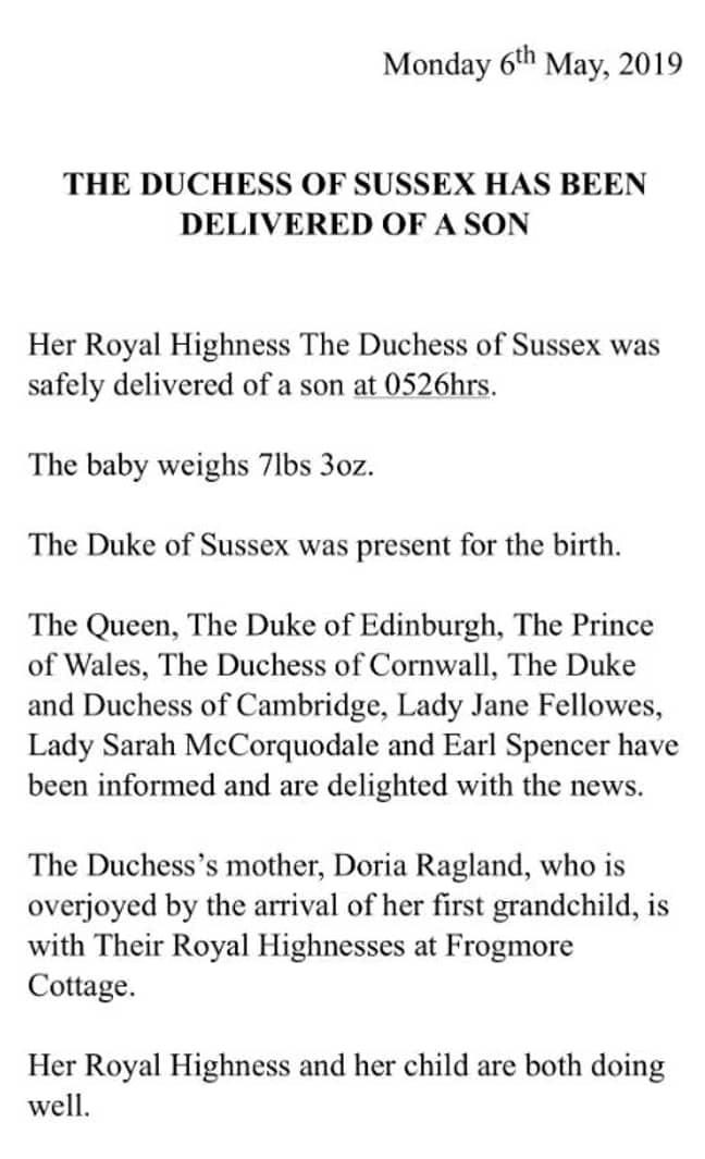Credit: Buckingham Palace