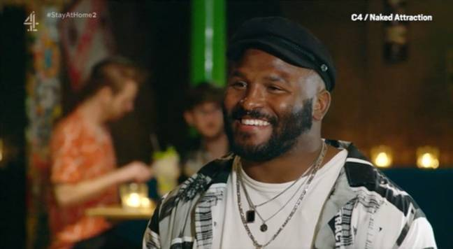 Jerome took part on Channel 4's unique dating show and went on a date with Amber (Credit: Channel 4)