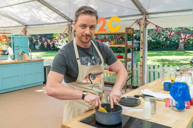 James McAvoy also starred on Celebrity Bake Off (Credit: Channel 4)