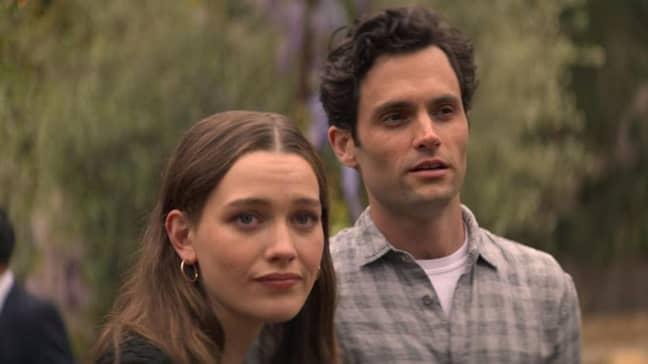 Joe Goldberg's new girlfriend Love even kills for him (Credit: Netflix)