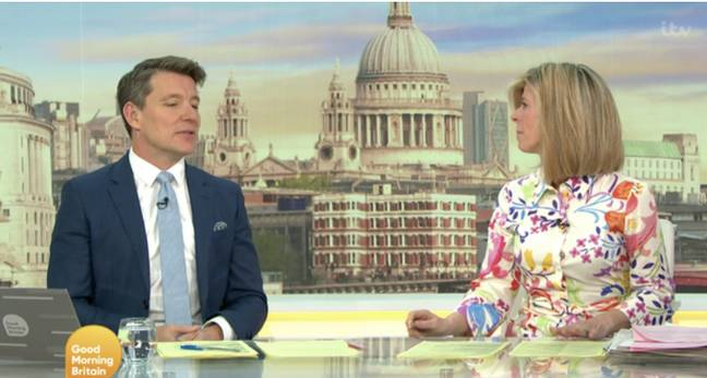 Kate Garraway laughed at her co-presenter (Credit: ITV)