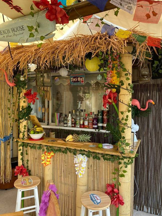 James created his Tiki Bar when plans for his home extension were cancelled (Credit: James Cheal / @jimmycheal)