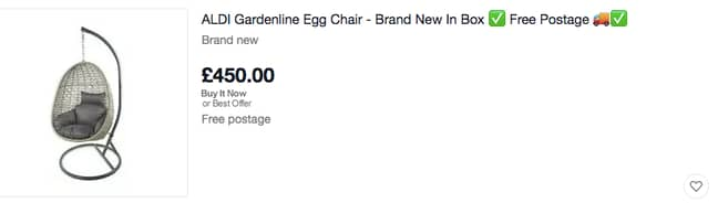 That's a lot of money for an egg chair (Credit: eBay)