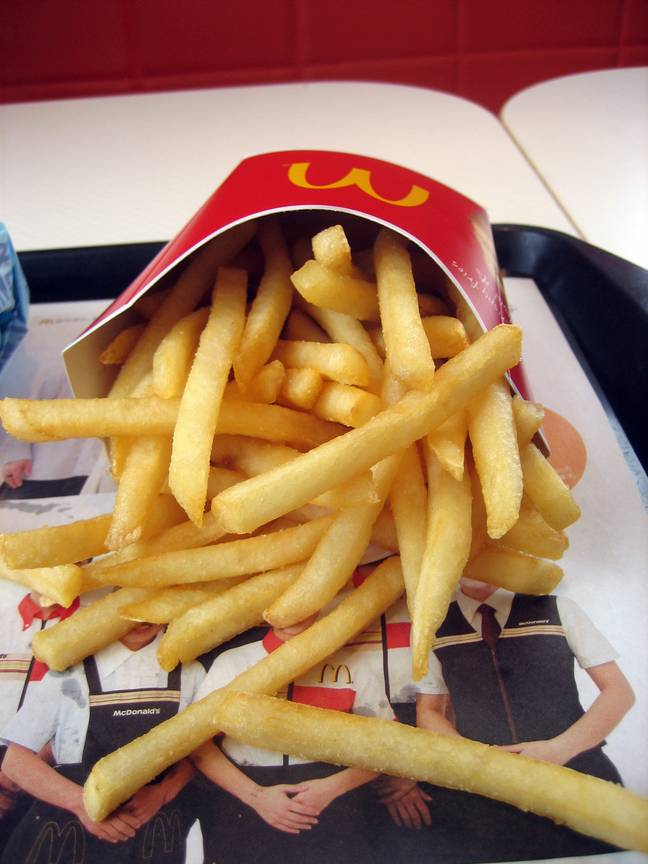 McDonald's is giving away a medium portions of the chain's famous fries. (Credit: wikimedia)