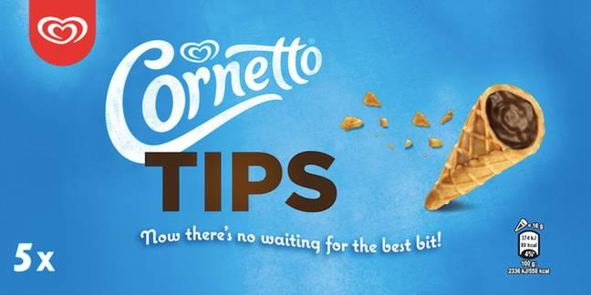 Cornetto are now selling tips (Credit: Walls)