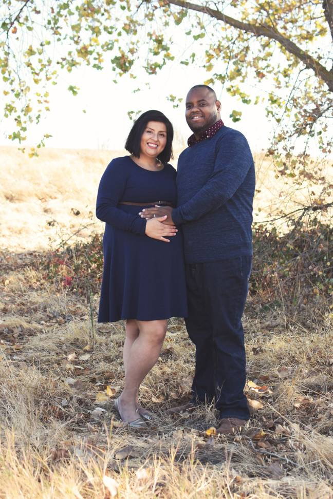 Lizeth and her husband were excited to be expecting twins (Credit: Caters News Agency)