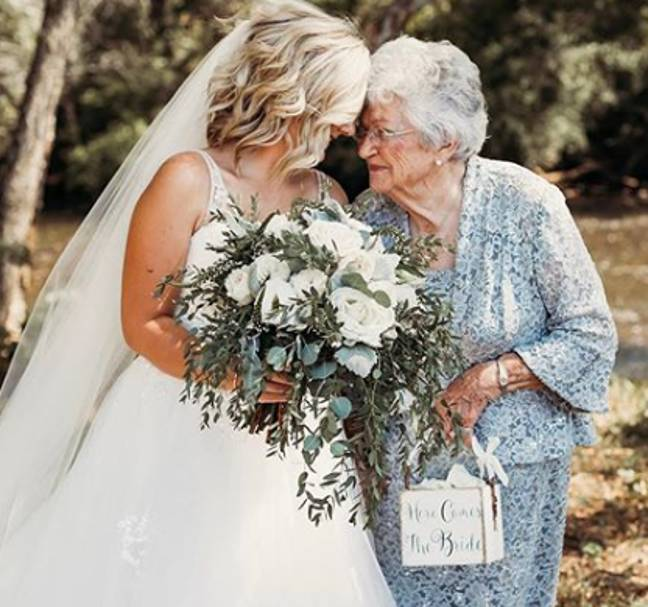 The bride said that her family was chuffed (Credit: Natalie Caho Photography)