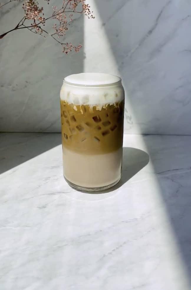 The drink looks delicious (Credit: TikTok@caffeinication)