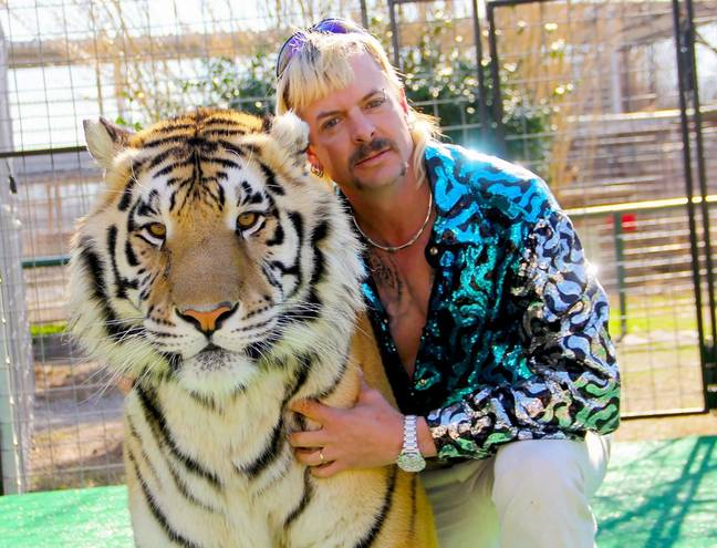 Joe Exotic claims he still has some tea to spill on Carole Baskin (Credit: Netflix)