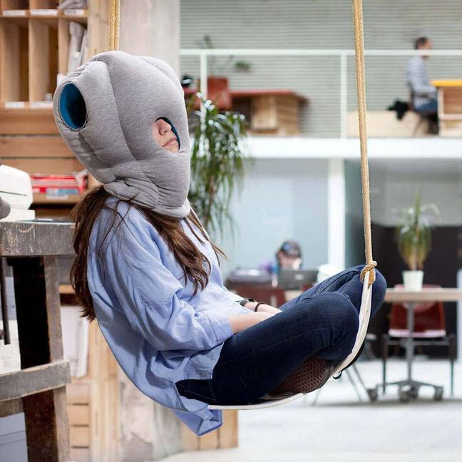 Whatever you preferred position, Ostrich Pillow allows for comfortable napping (Credit: Netflix)