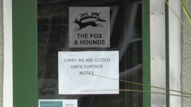 The Fox And Hounds in Yorkshire is one premises now closed (Credit: PA)