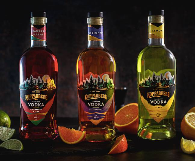 The Kopparberg vodka comes in three flavours (Credit: Kopparberg)