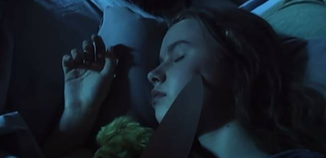 Viewers also see an unknown person dragging a knife along the face of Jellybean (Credit: The CW)