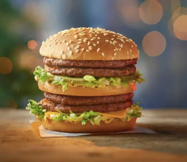 The Double Big Mac features four patties (Credit: McDonalds)