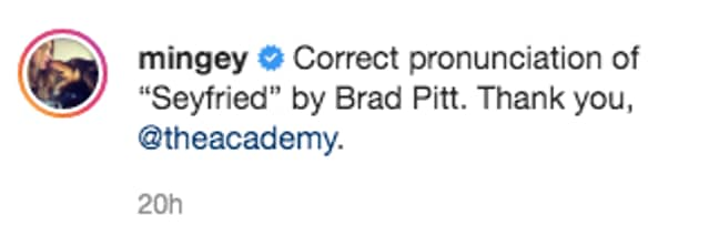 Amanda shared the clip with this comment (Credit: Instagram/ Amanda Seyfried)