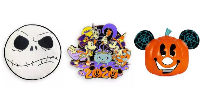 Round off the look with a Mickey and Minnie Trick and Treat Pin Badge ($16) or pop a candle in the Mickey-themed Votive Candle Holder ($20) (Credit: Disney)