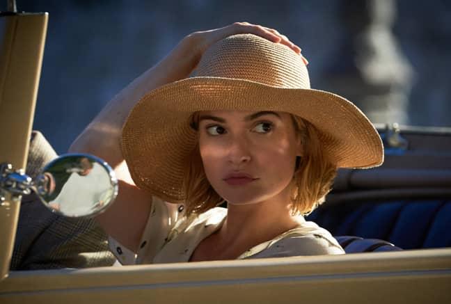 The 'Cinderella' actress plays Mrs de Winter (Credit: Netflix)