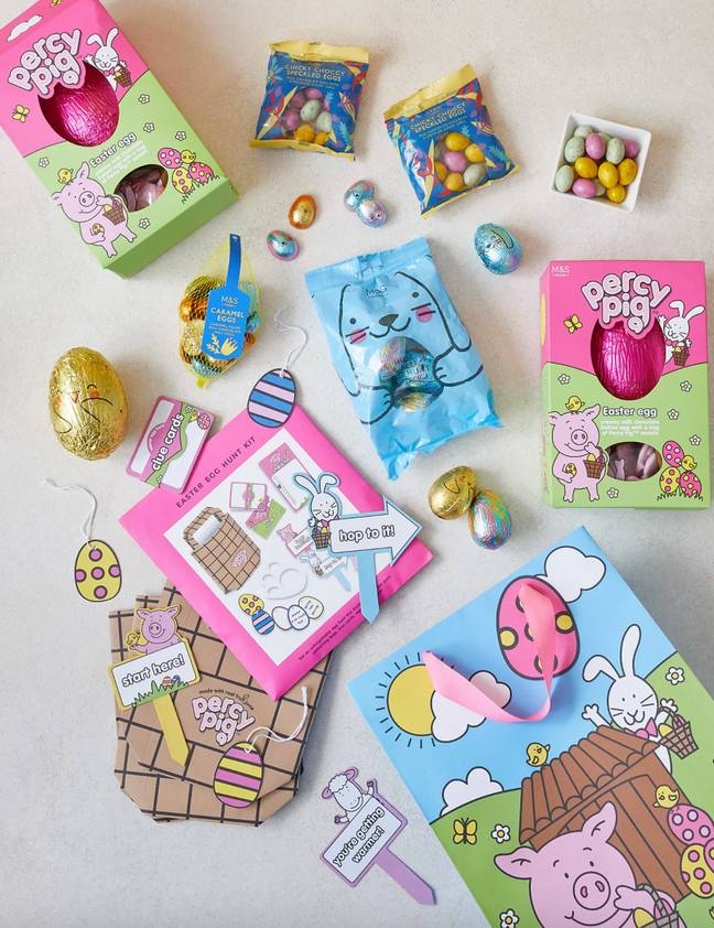 The Easter egg hunt kit comes with all the goodies you need (Credit: Marks & Spencer)