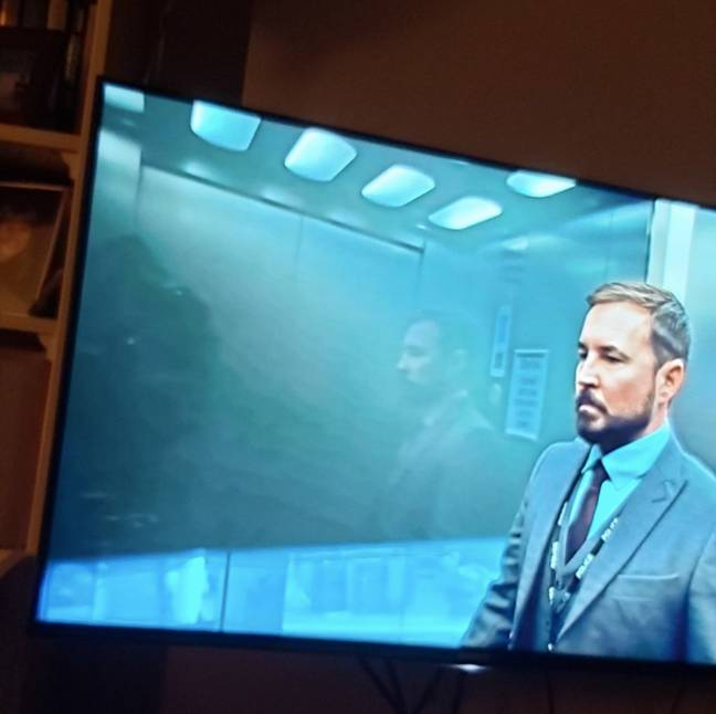 One Twitter user noticed a filming blunder in the latest episode of Line of Duty (Credit: Twitter/@mmeganmmurphy)