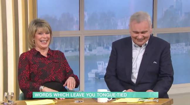 The pair got the giggles as Eamonn struggled to speak (Credit: ITV)