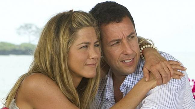 Aniston and Sandler starred in 2011 rom-com Just Go With It. Credit: Columbia Pictures