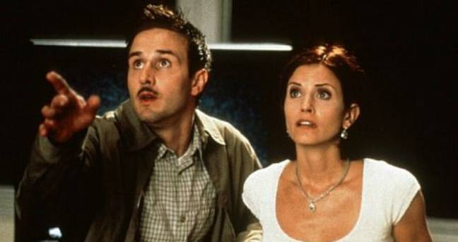 David Arquette as Deputy Dewey and Courtney Cox as Gale Weathers have survived all four movies (Credit: Scream)
