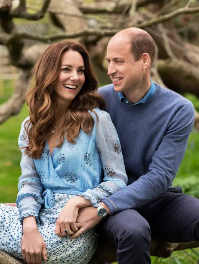 Prince William and Kate released new pictures to celebrate their 10-year wedding anniversary (Credit: Chris Lloyd)