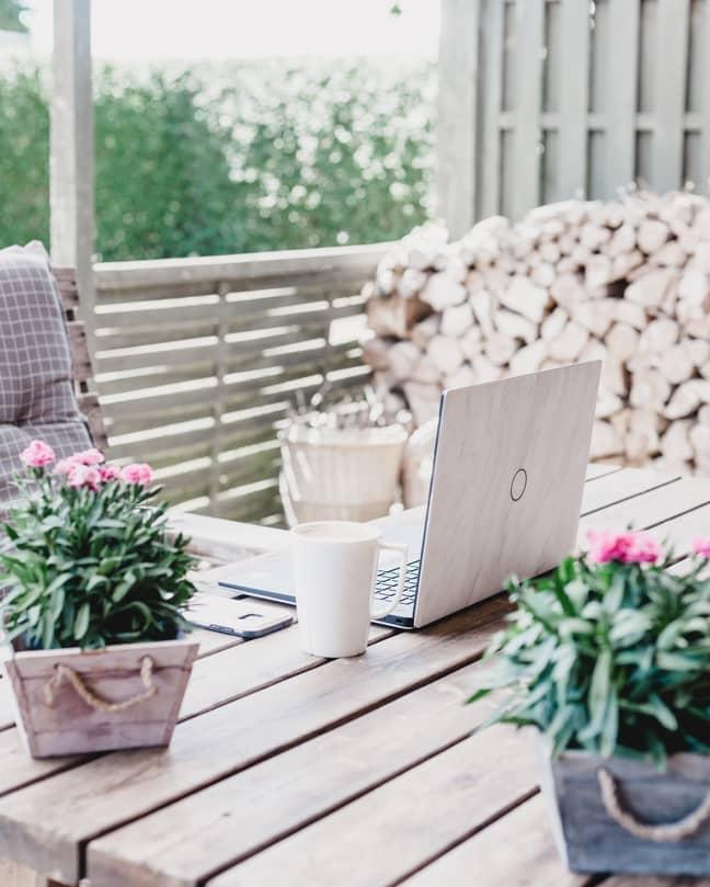 Working outside is one huge bonus of WFH (Credit: Unsplash)