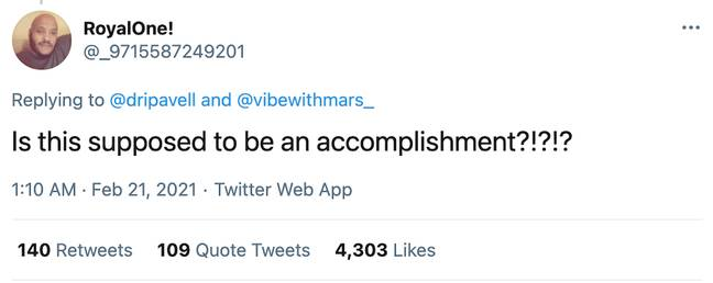 Lots of women responded to this man's tweet in reference to Rihanna (Credit: Twitter)