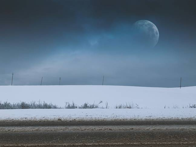 The snow moon is named for the snowfall around this time of year (Credit: Unsplash)