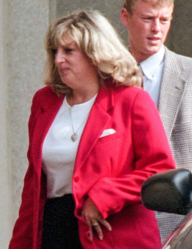 Linda Tripp will be played by Sarah Paulson in the upcoming third season of American Crime Story. Here she is in Washington in July 1998 (Credit: PA)