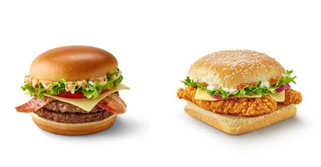 The burgers are both set to be a hit (Credit: McDonalds)