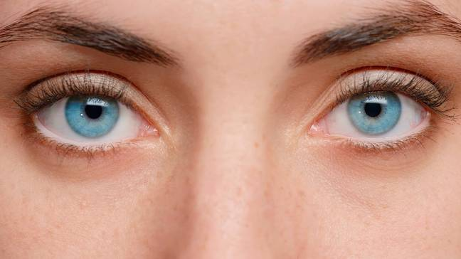 It's reported that blue eyes don't usually change colour (Credit: Shutterstock)