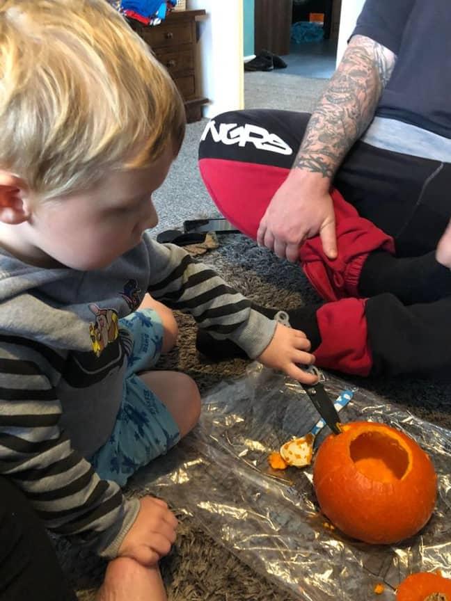 Jax uses toddler safe knives (Credit: Florence Taylor)